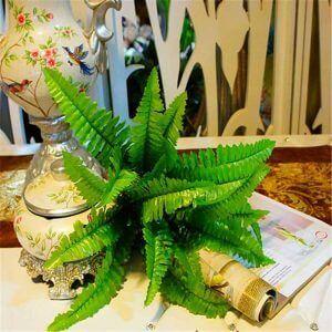 helecho artificial para terrario